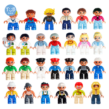 Compatible with Duplo Figures farm Action Figures big Building blocks With family police Education DIY Toys For Children Baby single sale building blocks mk85 thor doctor octopus pepper captain america spiderman figures for children education toys kf6097