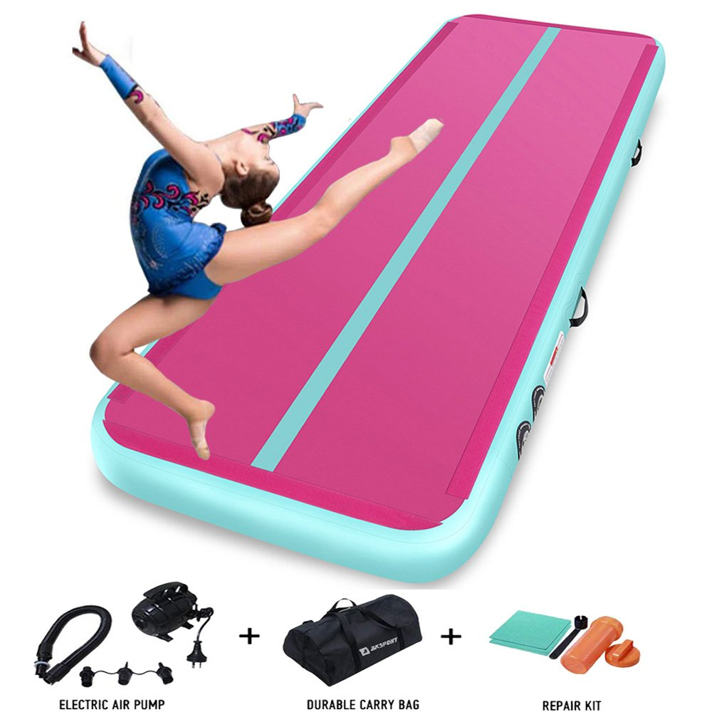 4m 5m 6m Green Airtrack Floor Mat Gymnastics Inflatable Gym Mattress Trampoline Eletric Tumbling Mat For Beach/Yoga/gymnastics