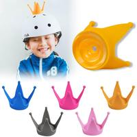 Chifres decorativos universais para capacete de moto  decoração de plástico macio coroa de capacete decoração