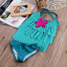Летние Купальники для маленьких девочек merimaid комплект бикини