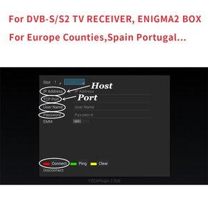 Image 2 - Cccam פורטוגל 6/7/8 קווים ספרד פולין גרמניה יציב cccam HD קליין השרת עבור 1 שנה תמיכה קולט לווין DVB S2 Ccams