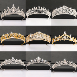 Silver Color Crown and Tiara Hair Accessories For Women Wedding Accessories Crown For Bridal Crystal Rhinestone Tiara Diadema