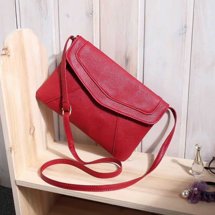 Маленькие сумки для женщин сумки-мессенджеры кожаные женские Newarrive милые сумки через плечо винтажные кожаные сумки Bolsa Feminina - Цвет: Red