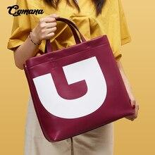 лучшая цена Leather Bags Women 2019 Genuine Leather Women Bag Luxury Brand Large Capacity Totes Handbags Big Letter Shoulder Crossbody Bags