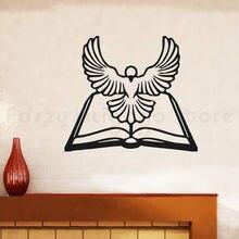 Winylowa tablica naścienna zwierząt, ptaków wystrój naklejki ścienne księgi głównej biblii biały ducha świętego gołąb H677
