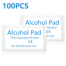 Wipe Alcohol Antiseptic-Skin Disinfection Prep 100pcs Cleaning Jewelry Swap-Pad Disposable