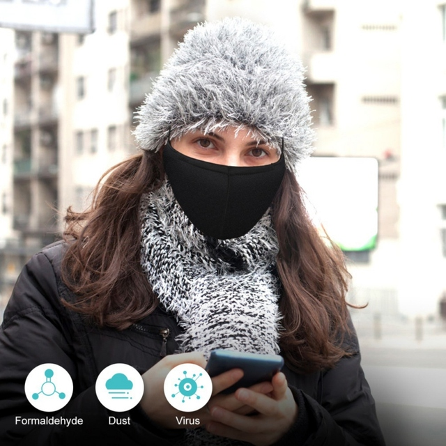 Mouth Mask + 1pc Filter Activated carbon filter  PM2.5 anti dust Mouth-muffle bacteria proof Flu Face masks 1