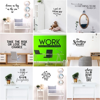 Quotes Phrase Wall Decal Living Room Removable Mural For Kids Rooms Decoration Stickers Waterproof Wallpaper