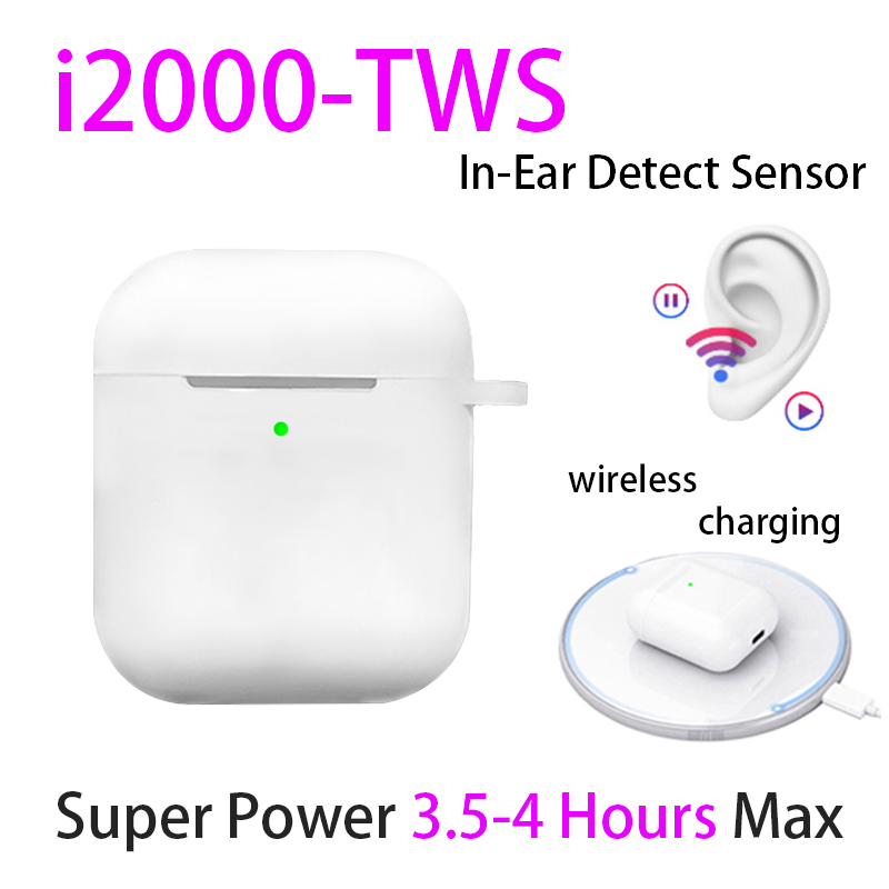 Original I2000 TWS 1:1 In-ear Bluetooth 5.0 Earphone Wireless Headphone Headset PK W1 Chip Aire2 Audifonos Aire 2 Celular Elari