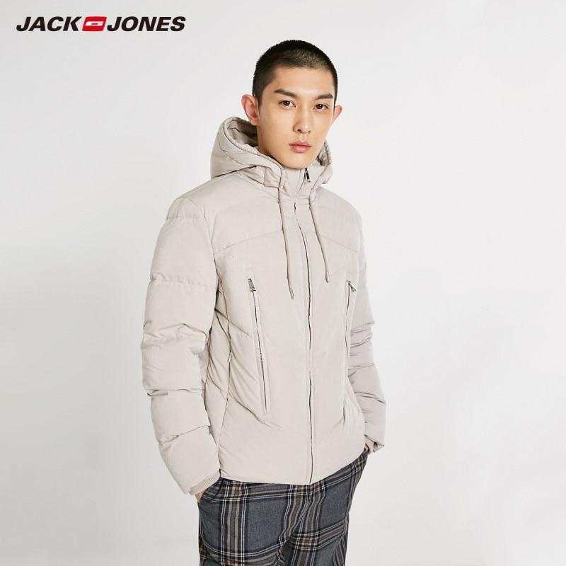 JackJones Men's Hooded Down Jacket Short Coat Basic Menswear 218412525