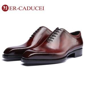Мужские модельные туфли из натуральной кожи; винтажные Туфли-оксфорды ручной работы в стиле ретро; деловые Модные Туфли-оксфорды для свадеб...