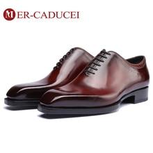 Chaussures en cuir véritable Vintage pour hommes, chaussures en Blake personnalisées, faites à la main, au bureau, mode, pour soirée de mariage, Oxford