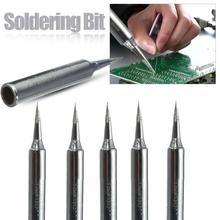 5pcs/set Lead Free Solder Iron Tips Replacement 900M-T-B Solder Iron Tips Head For Welding Metal Soldering Repair Station Tool