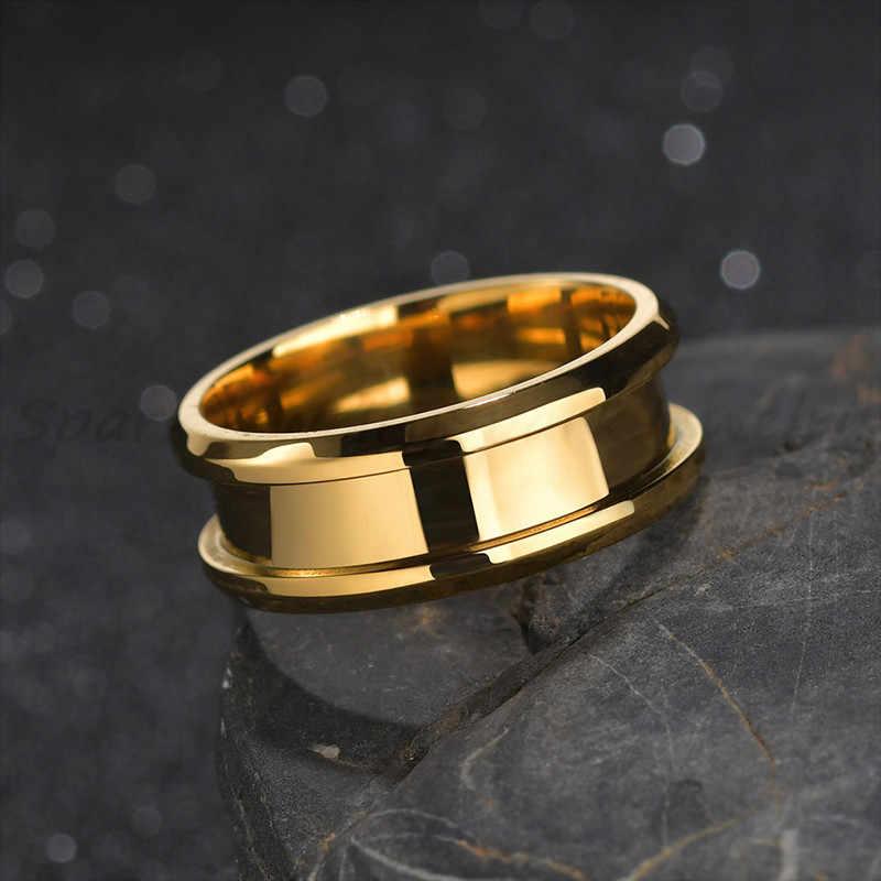 Spark Baja Titanium 8 Mm Alur Cincin Emas Hitam Biru Pernikahan Band untuk Pria Wanita Hadiah Pesona Perhiasan Anillo dropshipping