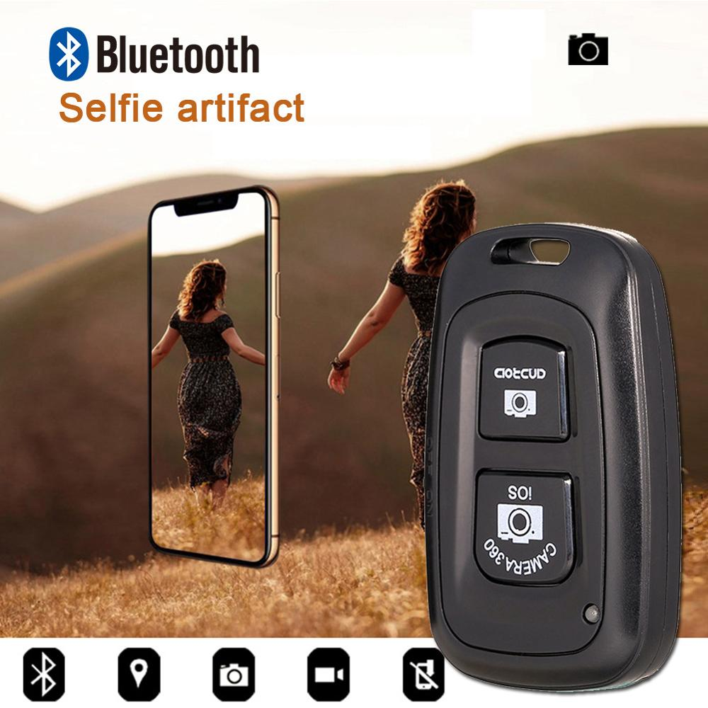 Мини Bluetooth пульт дистанционного спуска затвора телефон камера монопод палка для селфи с затвором Автоспуск пульт дистанционного управлени...