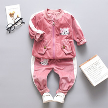 Tracksuit for Girls Baby Fashion Fall Long Sleeve Coat Pants 2pcs Kids Clothes Sets Outfits Children's Clothing 1 2 3 4 Year 1 2 3 4 year boys clothes 2018 new cotton casual kids outfits star shirts stripe pants 2pcs baby children clothing set