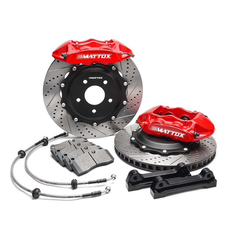 Mattox Car Brake Kit System Aparts Brake Disc 380*28mm 4Pistons Caliper for Cadillac Escalade ESV EXT 2007 Rear Wheel