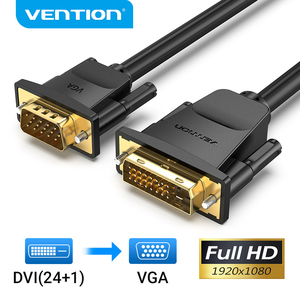 Vention DVI to VGA Cable 1080P 60HZ DVI D 24+1 Pin DVI Male to VGA Male Connector Cable for HDTV Laptop Monitor DVI D VGA Cable