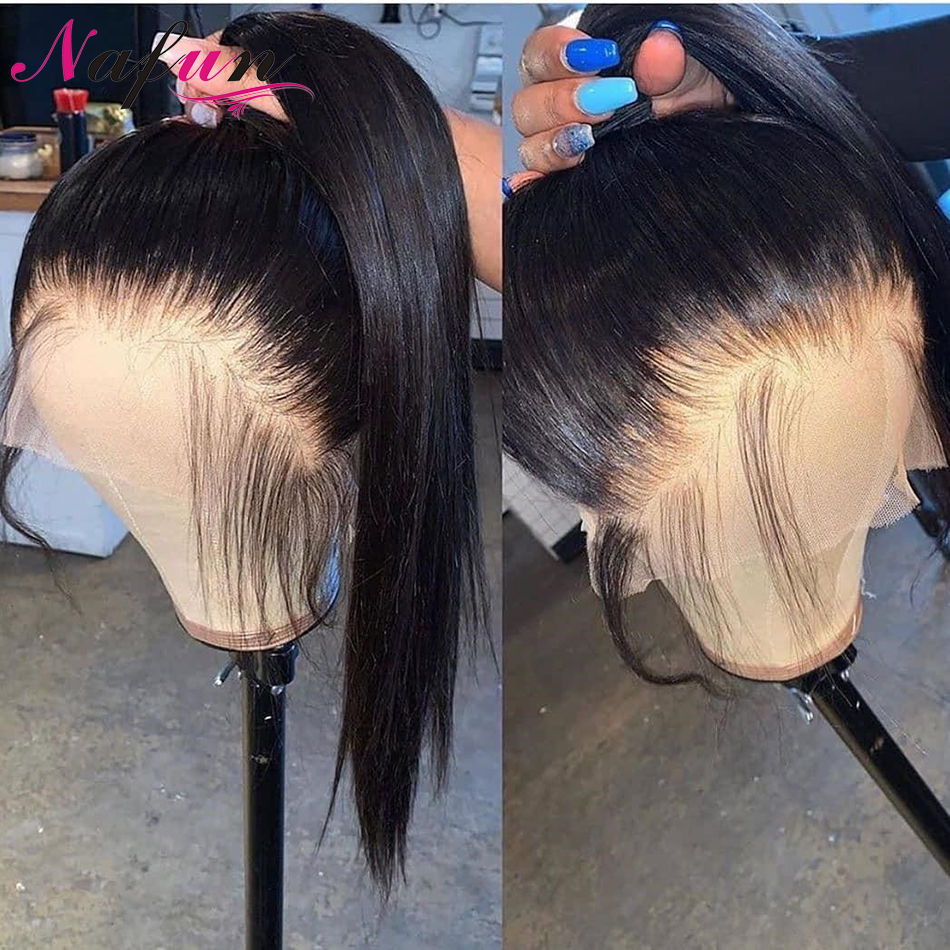 Straight Lace Front Wigs Peruvian Wig 13X4/13x6 Lace Frontal Human Hair Wigs Remy Transparent Lace Wigs Pre Plucked Glueless Wig