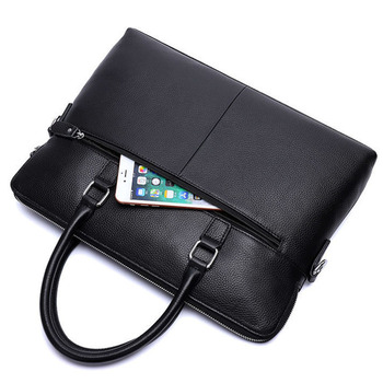 Men Business Real Leather Briefcase 14