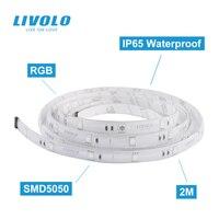 LIVOLO Smart Wifi LED Licht Streifen 2m 5050 RGB Flexible Band Struktur, App Google Home Alexa Control,12V adapter, Intelligente