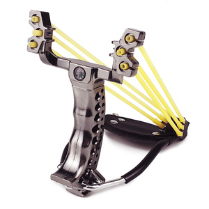 Image 2 - Slingshot Powerful Hunting With 3 Rubber Band Tubing Catapult Professional Tactical Pocket Target Sling Shot Outdoor Bow