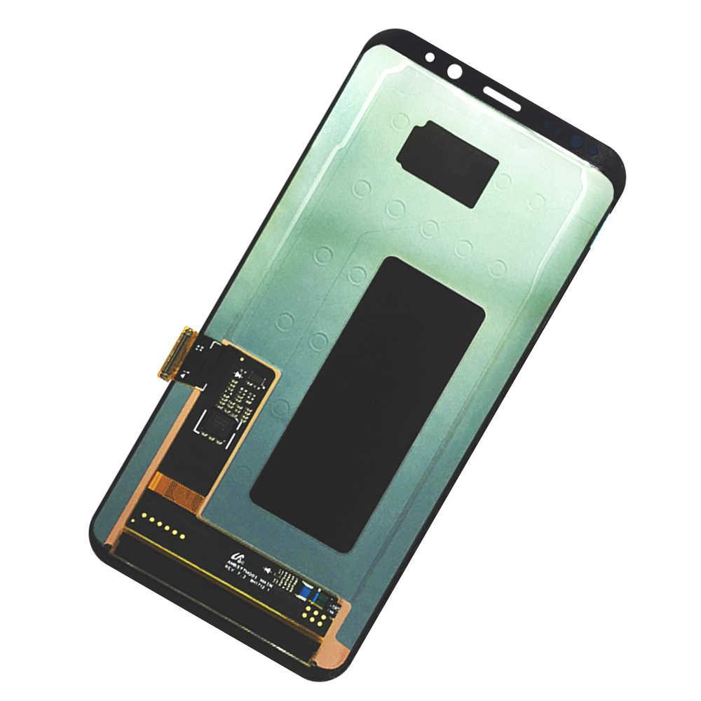 LCD S8 Plus para Samsung Galaxy S8 más G955 G955F G955A G955T G9550 Super AMOLED pantalla LCD 100% probado contacto asamblea de pantalla