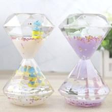 1PC Single Color Timer Sandglass Waist Shape Oil Hourglass Liquid Motion Bubble Desk Toys Gifts Decoration for Home