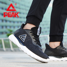 PEAK Men Running Shoes Breathable Mesh Lightweight Sneakers Cushion Flexible Dur