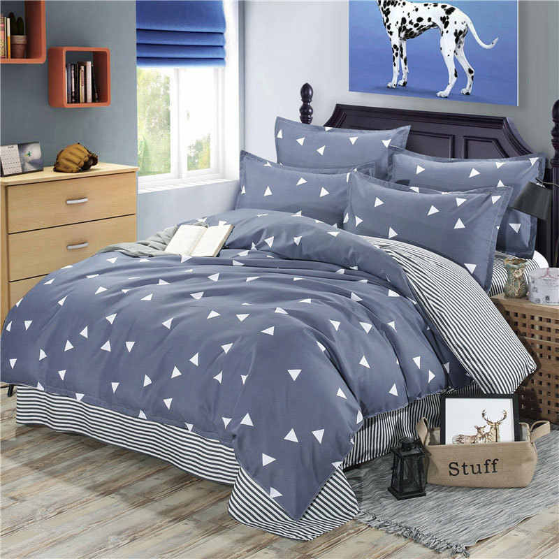 Geometric 4pcs Bed Cover Set Cartoon Duvet Cover Children's Bed Sheets And Pillowcases Comforter Bedding Set 2TJ-61002