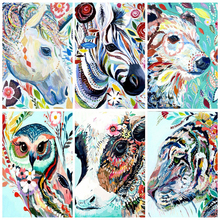 AZQSD Paint By Number Canvas Painting Kits Animals DIY Unframe Acrylic Paint Coloring By Numbers Cartoon Handpainted Gift