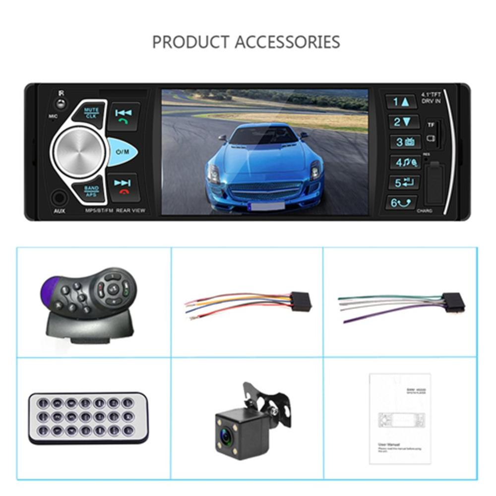 4.1 Inch HD Large Screen Hands-free Car MP5 Player Card U Disk Radio Reversing Audio Player Radio Station With Remote Control