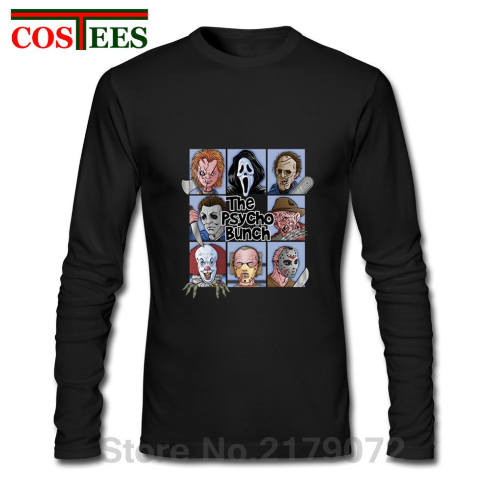 Halloween Friday the 13th long sleeve Tees Texas Horror Killer Jason Voorhees T shirt Massacre Machine Camp Crystal Lake T-shirt image