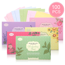 Масло промокающая бумага 100 штук Очищающая маска для лица макияж Уход за кожей продукты для мужчин и женщин масло промокающие листы