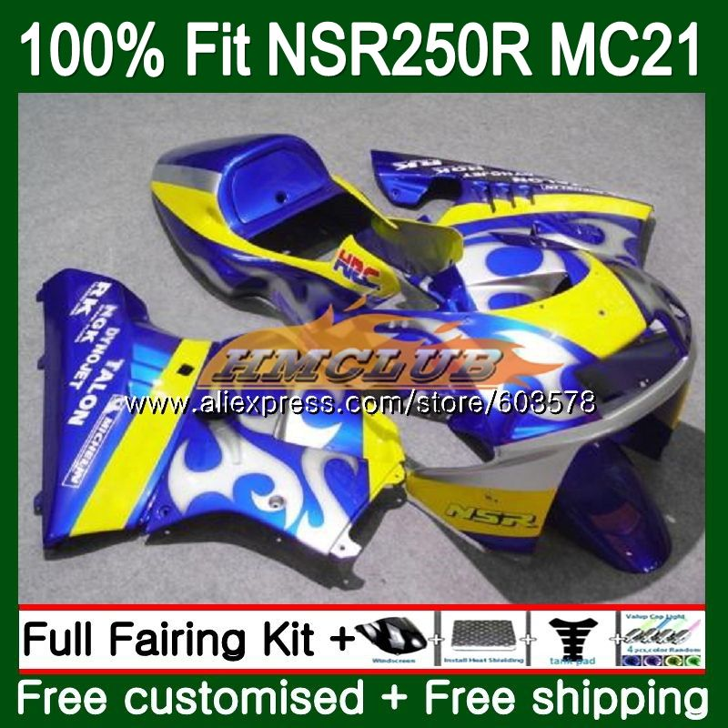 Injection For HONDA NSR250R MC21 PGM3 1990 1991 1992 1993 101CL.35 Blue Sale <font><b>NSR</b></font> <font><b>250</b></font> R NSR250 RR <font><b>NSR</b></font> 250R 90 91 92 93 Fairing image