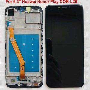 Image 3 - ЖК дисплей с дигитайзером на Huawei Honor Play, сенсорный экран 6,3 дюйма в сборе, для Huawei honor play, оригинальный ЖК дисплей с рамкой