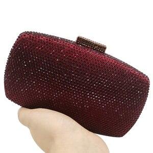 Image 3 - Boutique De FGGไวน์สีแดงเพชรผู้หญิงเย็นกระเป๋าและClutchesสุภาพสตรีค็อกเทลคริสตัลคลัทช์กระเป๋าปาร์ตี้