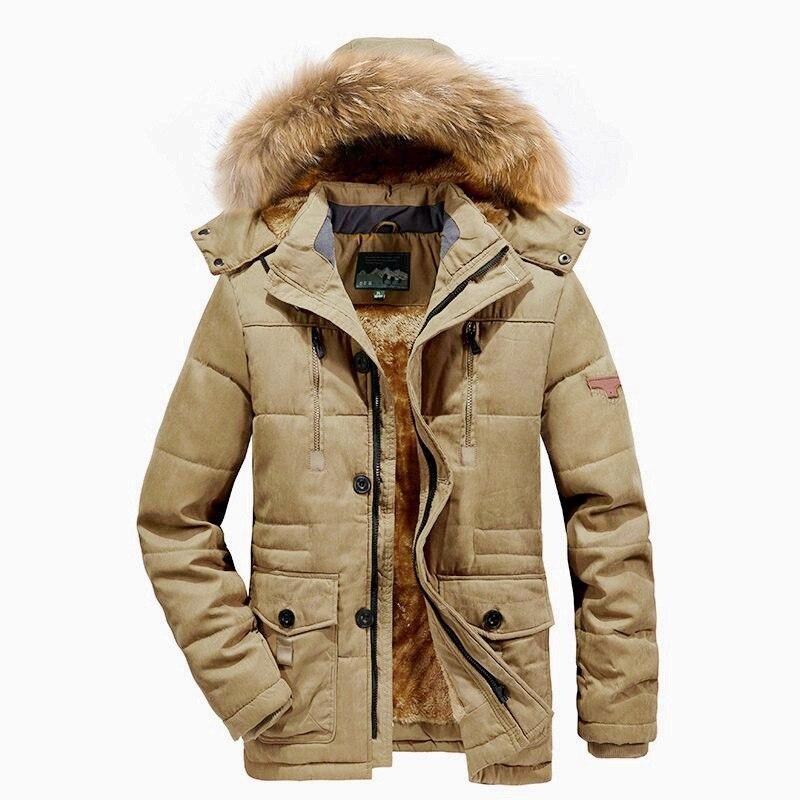 Winter Jacket Men Plus Size 5XL 6XL Cotton Padded Warm Parka Coat Casual Faux Fur Hooded Fleece Long Male Jacket Windbreaker Men 6
