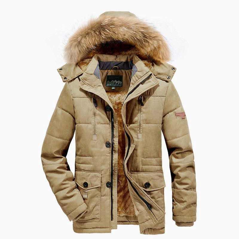 Kış ceket erkekler artı boyutu 5XL 6XL pamuk yastıklı sıcak Parka ceket Casual Faux kürk kapşonlu polar uzun erkek ceket rüzgarlık erkekler