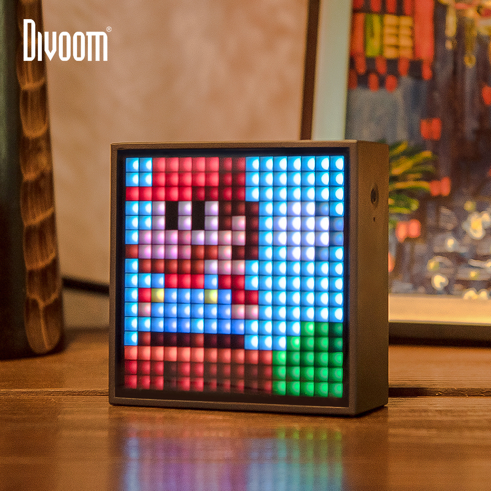 Divoom Timebox Evo Bluetooth Portable Speaker with Clock Alarm Programmable LED Display for Pixel Art Creation Unique gift(China)