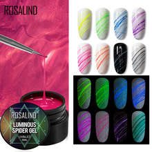 ROSALIND Spider Gel Polish Luminous Drawing Line Semi Permanent Spider Web Nail Stickers Gel Polish Base Top All For Manicure