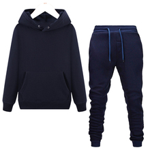 Winter Fahion Women Tracksuit Sweatershirt Pant Set Solid Color Long Sleeve Pullover Hoodie Casual Sport Suit