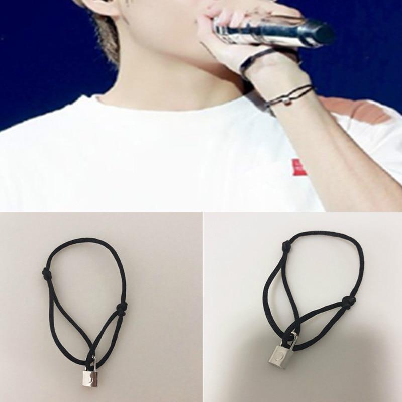 Kpop Bangtan Boys Bracelet The Same Style As V Exquisite Creative Lock Bracelet Fashion Korean Style
