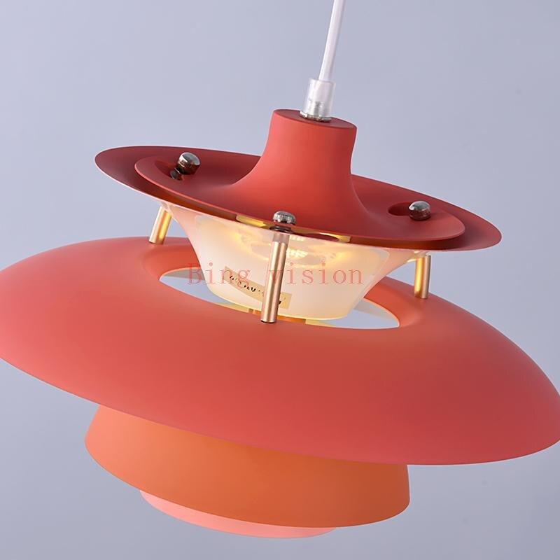 Haute qualité E27 suspension colorée parapluie Led suspension lampe salle à manger pendentif Led lampe Led lampara luminaires - 3