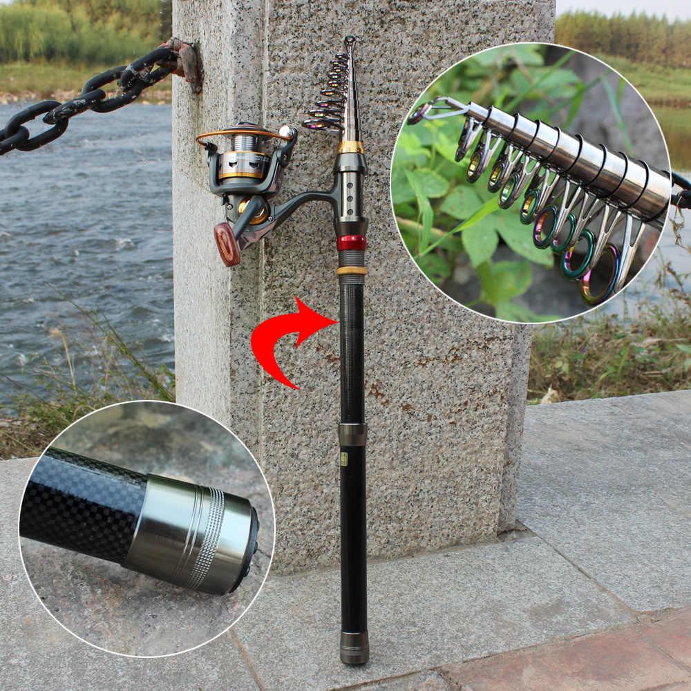 Sougayilang 1,8-3,6 м телескопическая портативная удочка и 10 + 1BB катушка комбинированная Удочка 99% карбоновая удочка для карпа, набор катушек
