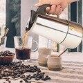 100 мл/200 мл/300 мл/450 мл чайник из нержавеющей стали для заварки Кофе чайник Pro Barista портативный эспрессо Moka чайник кофеварка