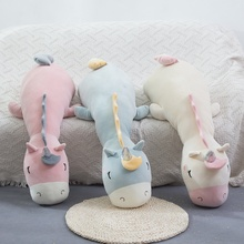 70cm/95cm Dreamy Soft Cartoon Unicorn Plush Toy Animal Three Colors Horse Stuffed Doll Sofa Chair Pillow Cushion Baby Presents