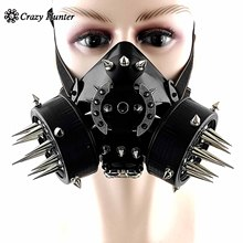 Spikes Steampunk Punk Gas Mask Cool Mens Biker Rock Motorcycel Masque