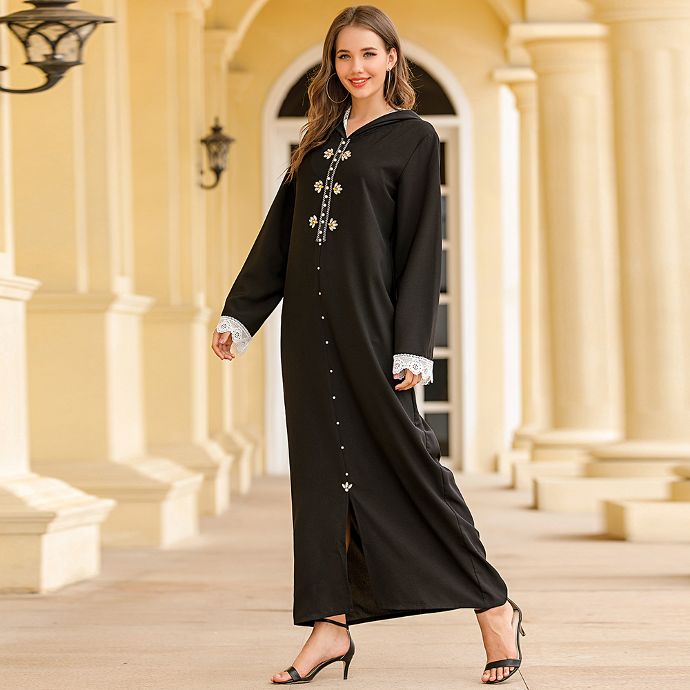 Eid Mubarak Robe Musulman De Mode Moroccan Kaftan Abaya Dubai Turkey Hijab Muslim Dress Islamic Clothing