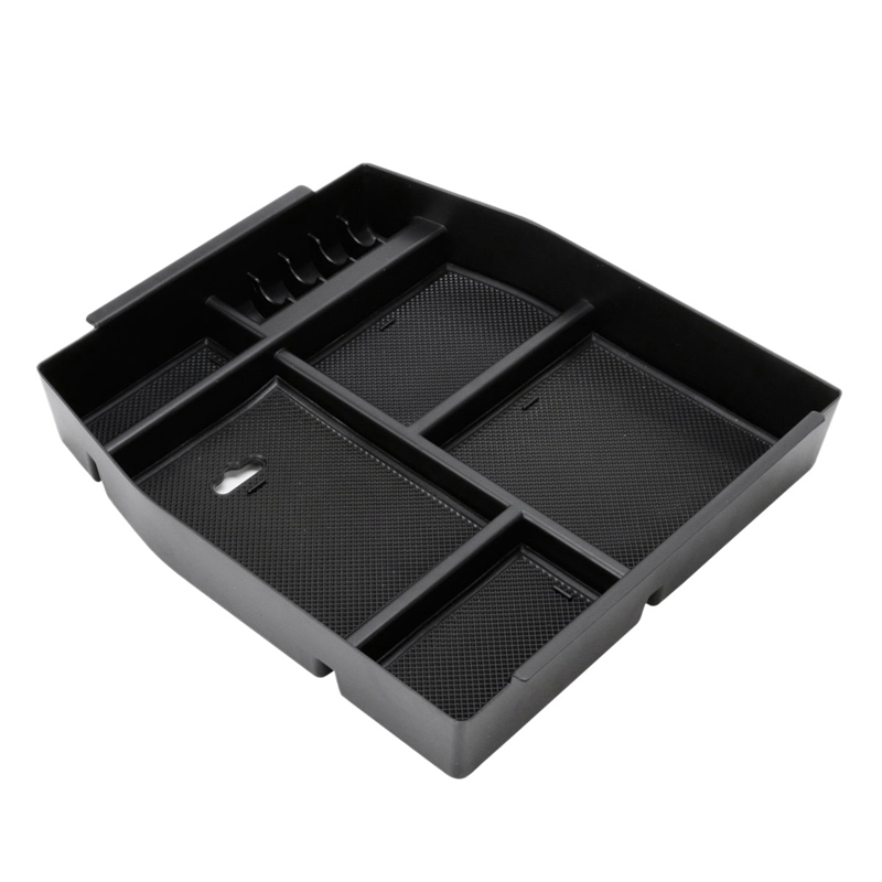 Car Central Handrail Storage Box Console Handrail Storage Box Insert Into The Host Tray For Ford F150 2015 2016 2017